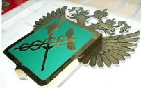 Объемный герб из металла