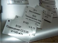 Маркировочные таблички для технических помещений