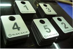 Номера для примерочных кабин, SAVAGE