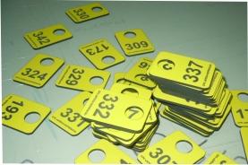 Гардеробный номерок для АРЕНА Норильск (желтые)