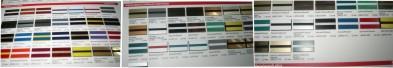 Цветовая палитра 2-х слойных пластиков для гравировки фирмы Rowmark