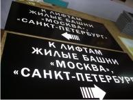 Таблички паркинга Москва Сити